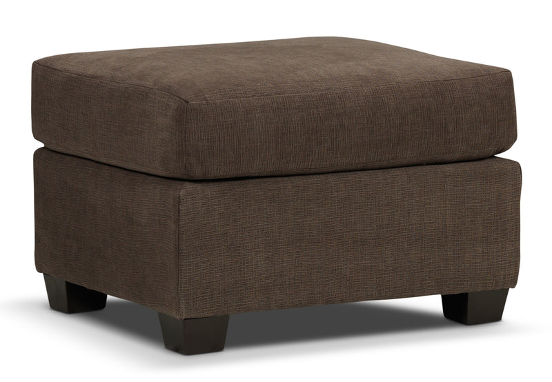 Knox Ottoman - Light Brown