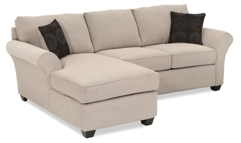 Eckel 2 Piece Sectional With Left Facing Chaise   Mocha