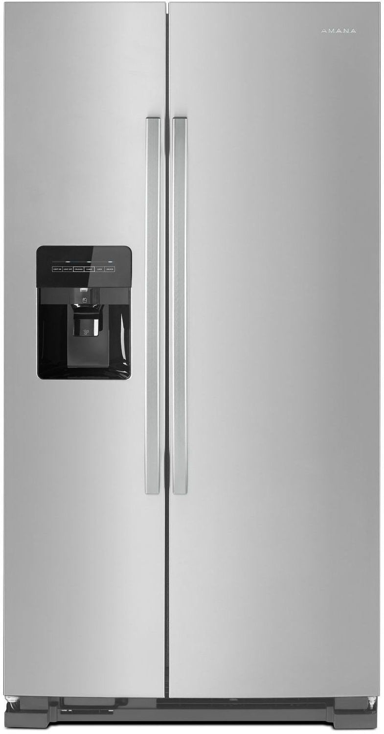 Amana Black-on-Stainless Steel Side-by-Side Refrigerator (21.4 Cu. Ft.) - ASI2175GRS