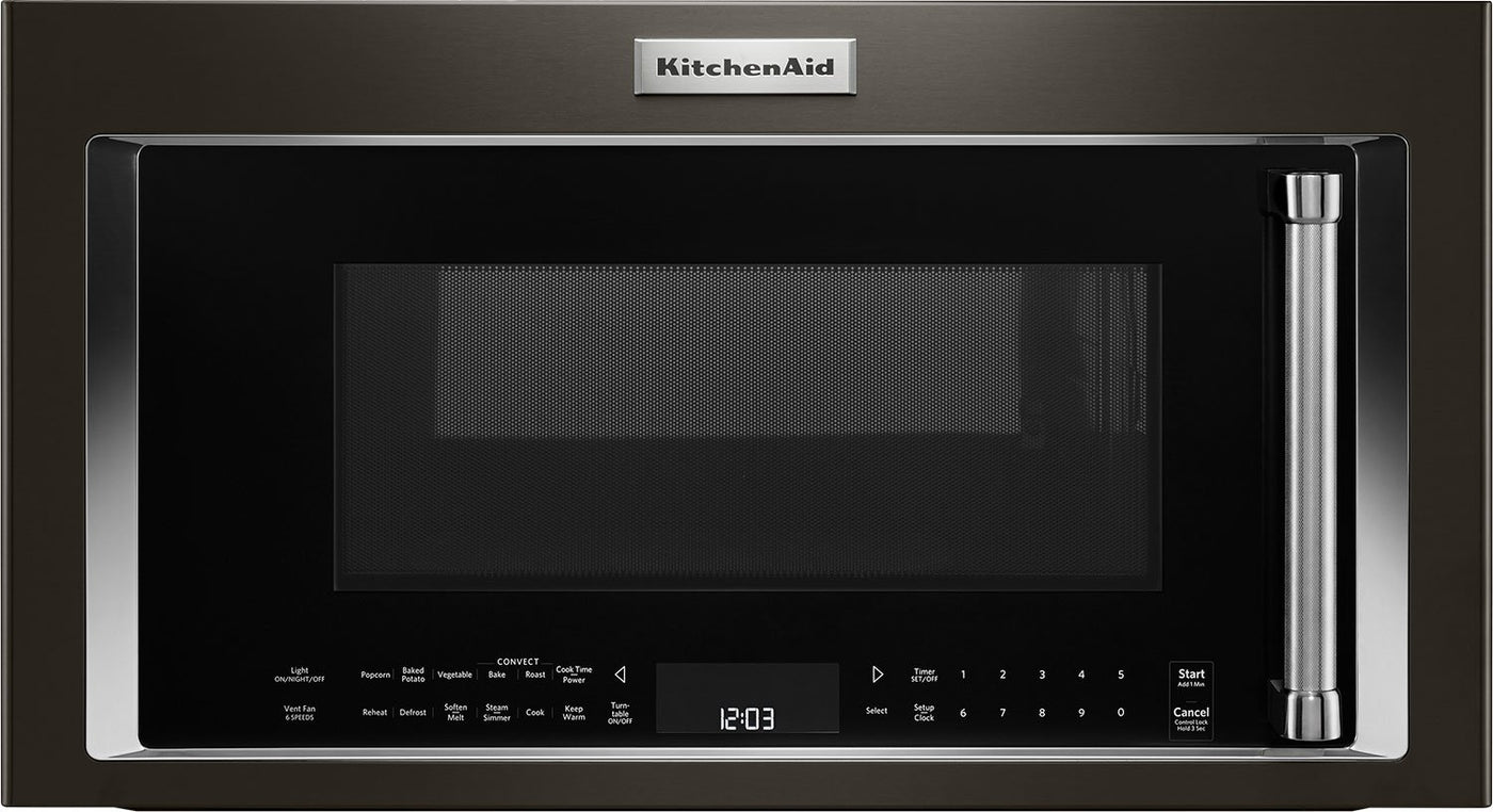 Kitchenaid 1 9 Cu Ft 1 000 W Convection Microwave Hood Combination Ykmhc319ebs