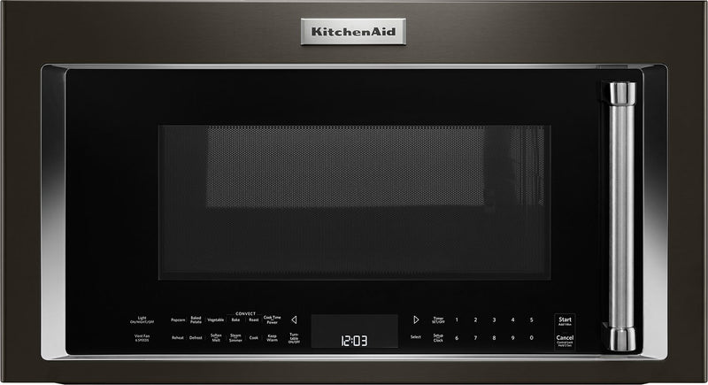 KitchenAid 1.9 Cu. Ft. 1,000 W Convection Microwave Hood Combination – YKMHC319EBS