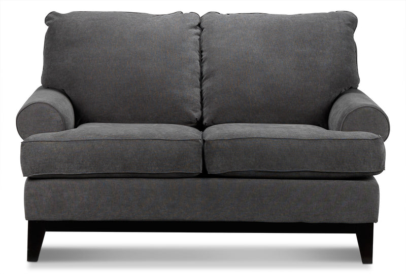 Casons Loveseat - Dark Grey