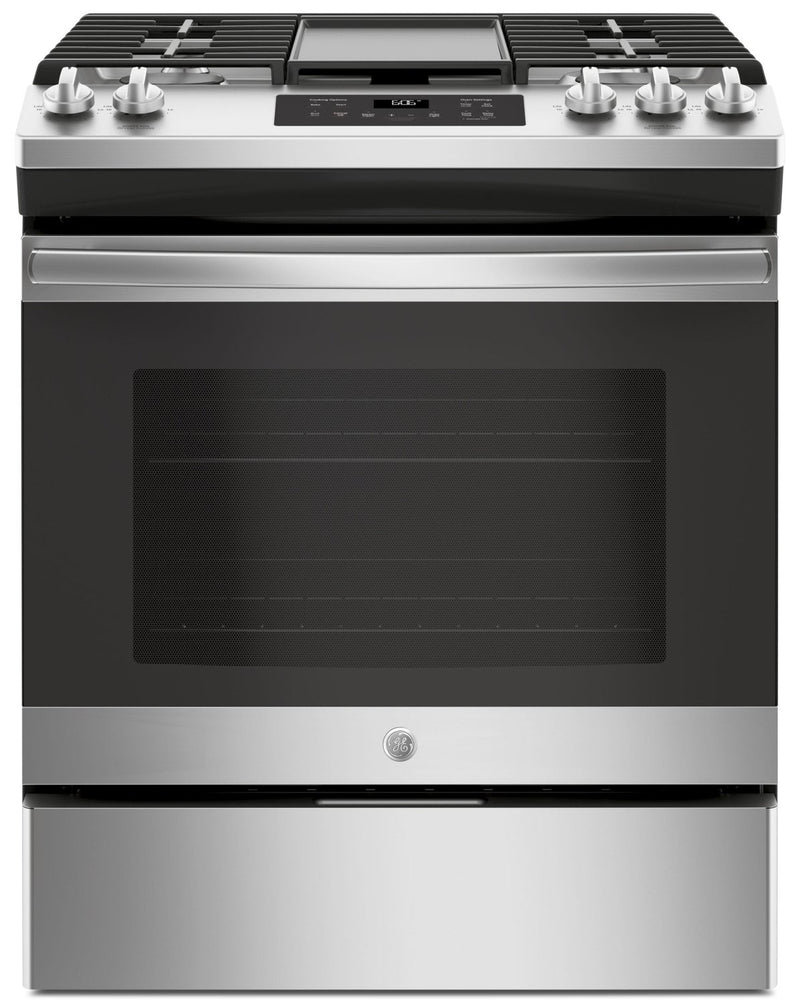GE 5.4 Cu. Ft. Slide-In Steam Clean Gas Range – JCGSS66SELSS