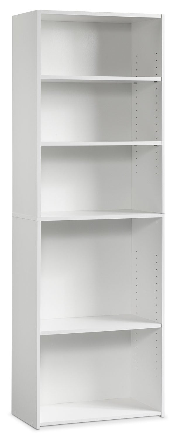 Currow 3-Shelf Bookcase - White