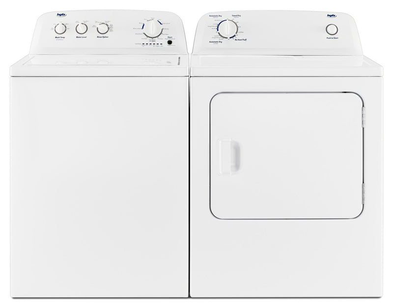 Inglis 4.4 Cu. Ft. I.E.C. Top-Load Washer and 6.5 Cu. Ft. Electric Dryer – White