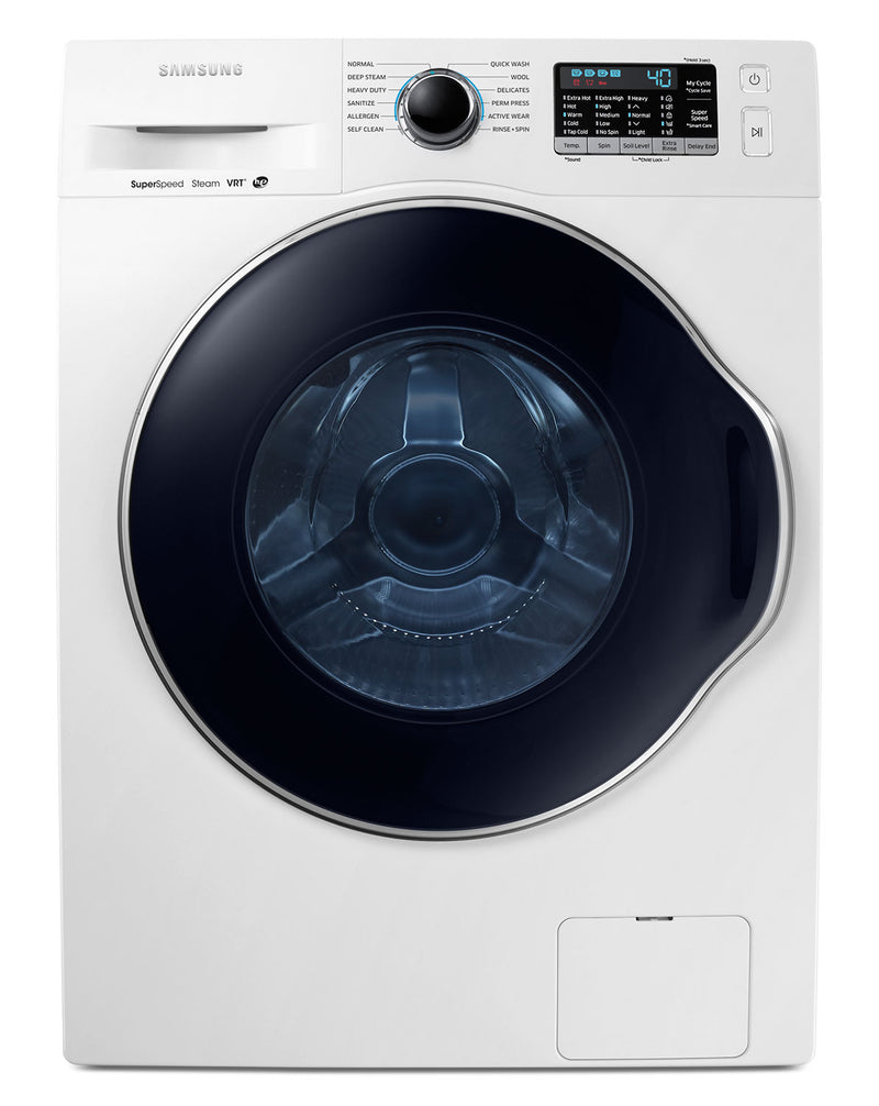 Samsung White Front-Load Washer (2.6 Cu. Ft. IEC) - WW22K6800AW/A2
