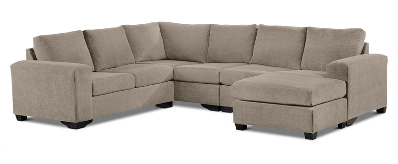Mayat 3-Piece Sectional with Right-Facing Corner Wedge - Pewter