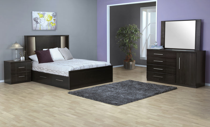Salthill 6-Piece Queen Storage Bedroom Set - Charcoal