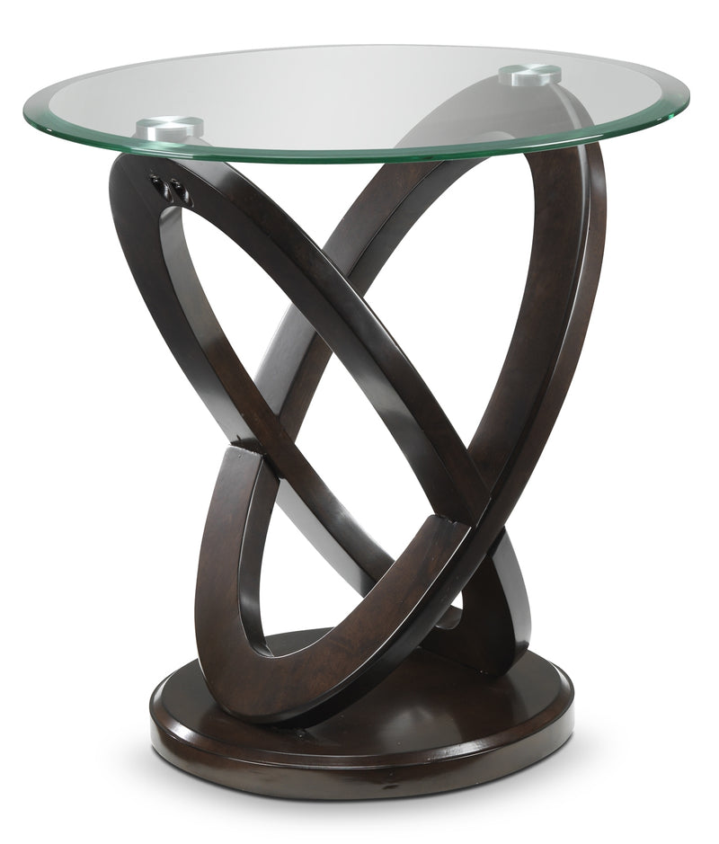 Stark End Table - Brown Cherry