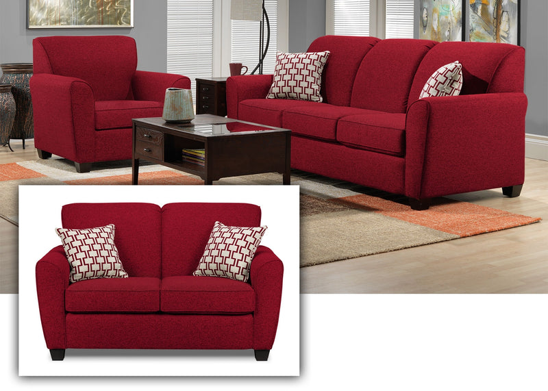 Orson 3 Pc. Living Room Package - Red