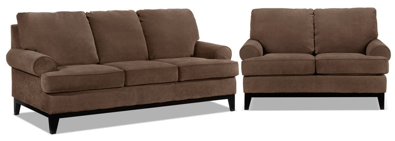 Casons Sofa and Loveseat Set - Coffee