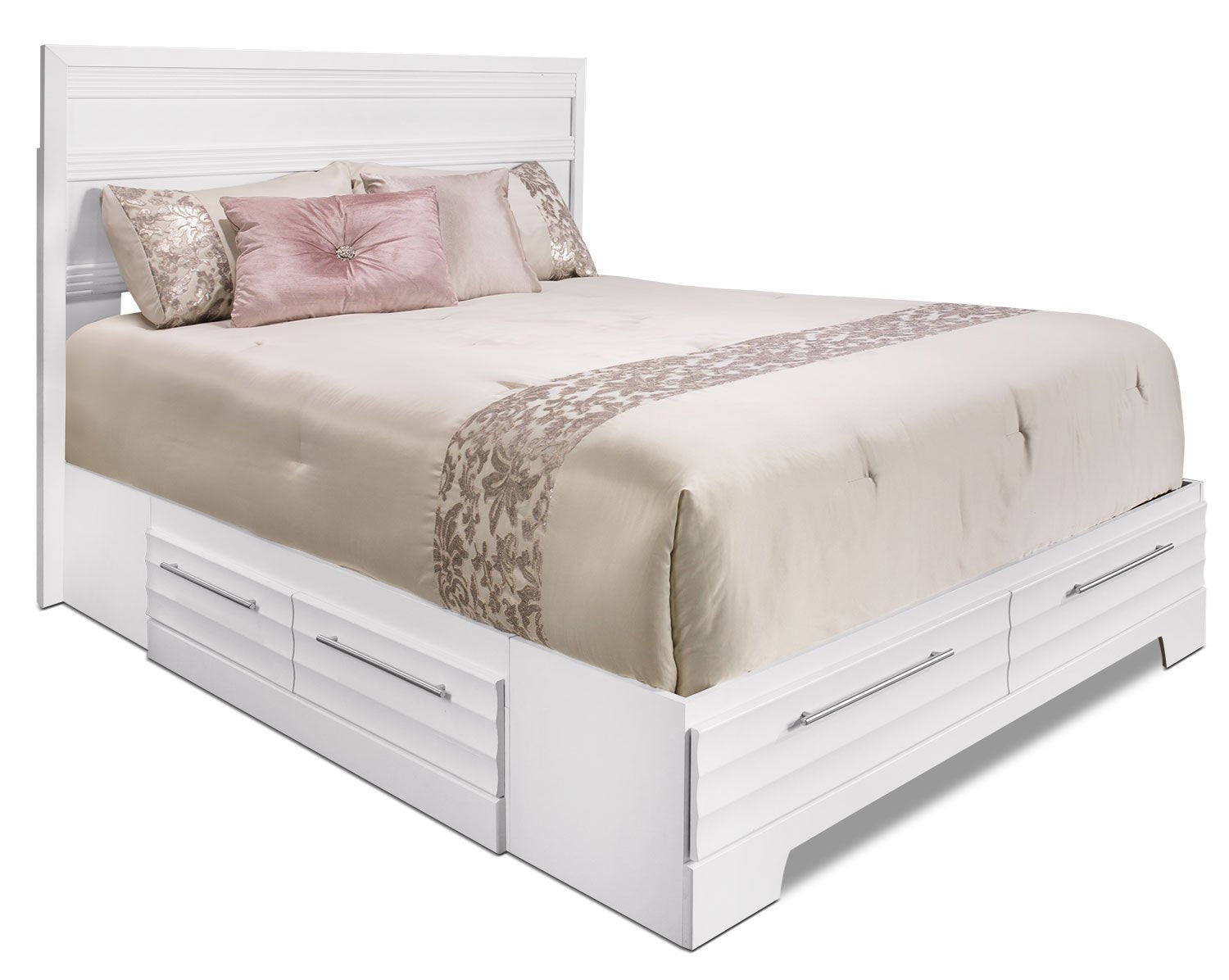 Odense White Full Storage Bed Furniture Ca