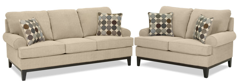 Casons Sofa and Loveseat Set - Mocha