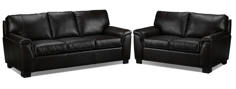 Campbell Sofa and Loveseat Set - Coffee