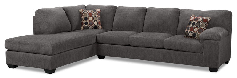 Farrow 2-Piece Chenille Left-Facing Sectional – Grey