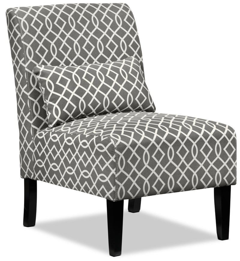 Santos Accent Chair - Grey Lattice