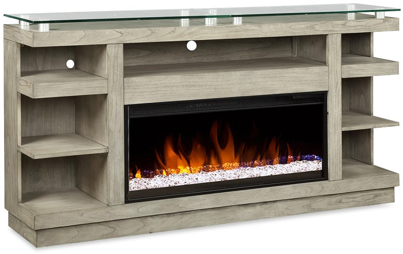 "Huxley 74"" TV Stand with Firebox"