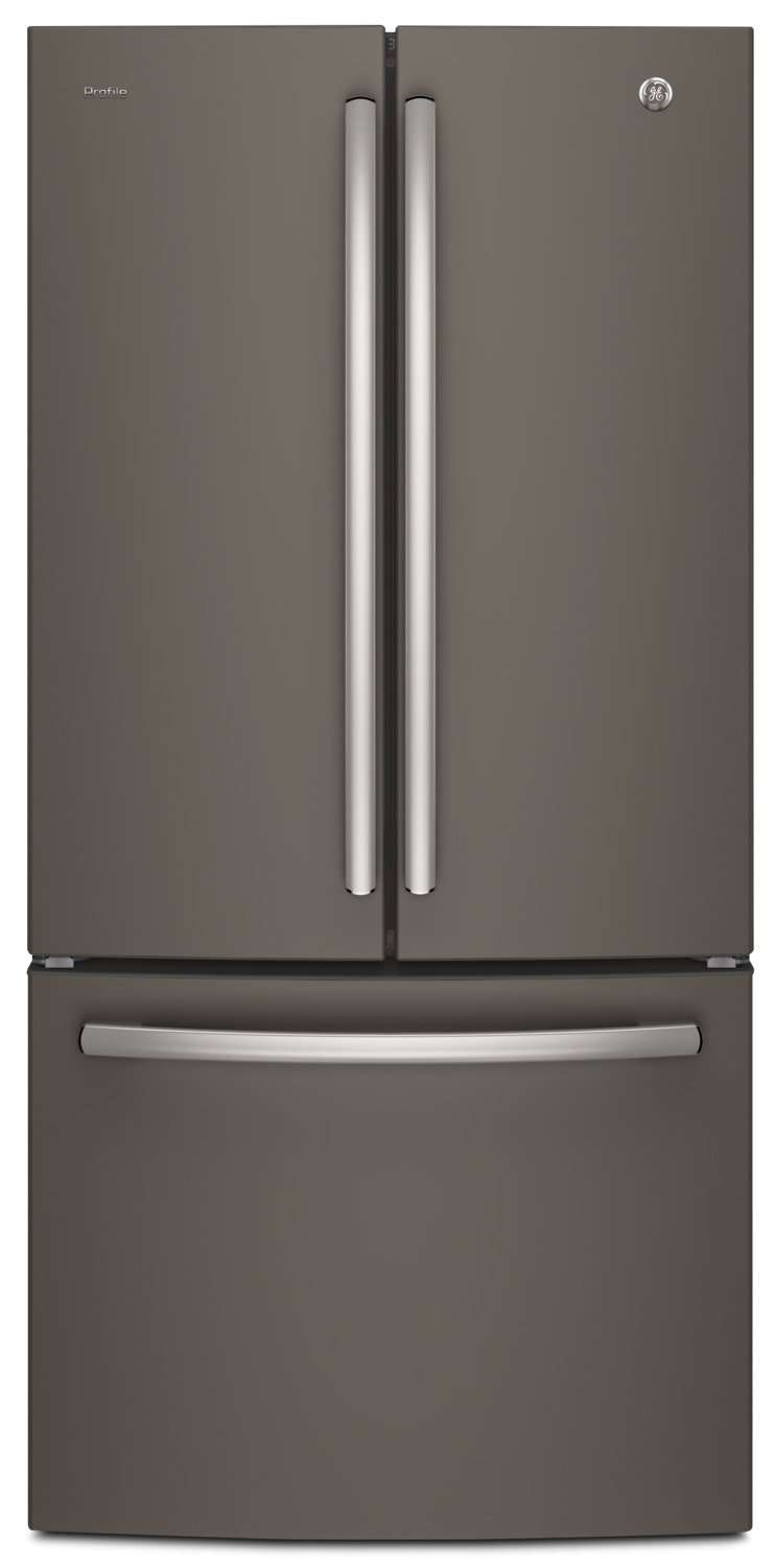 GE Profile 24.5 Cu. Ft. French-Door Refrigerator with Space-saving Icemaker – PNE25NMLKES