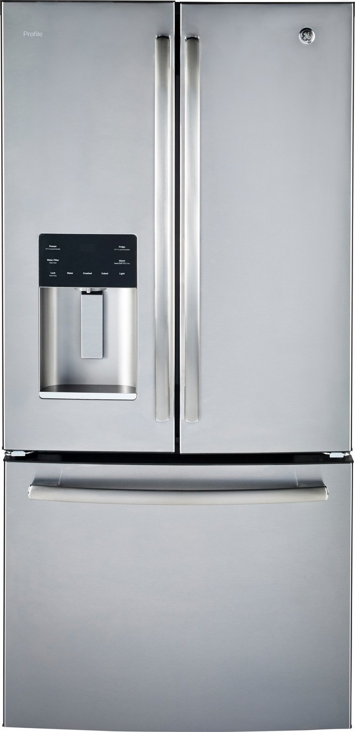 GE Profile 17.5 Cu. Ft. French-Door Refrigerator with Icemaker – PYE18HSLKSS