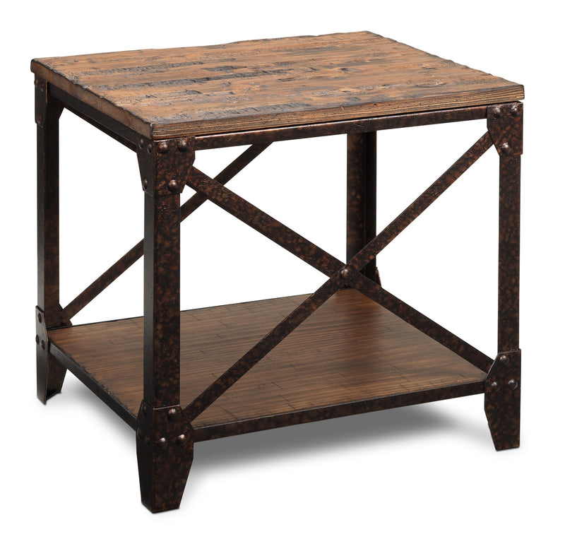 Antiquity End Table - Distressed Natural Pine