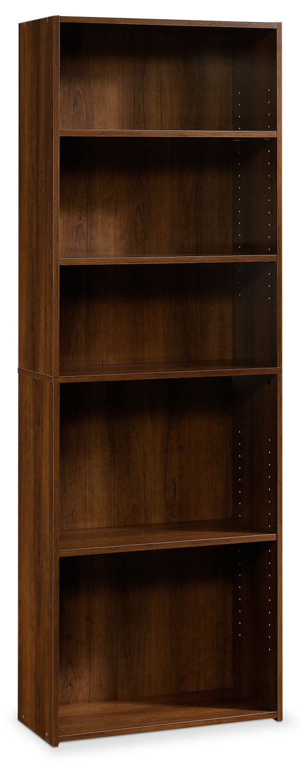 Currow 3-Shelf Bookcase - Brook Cherry
