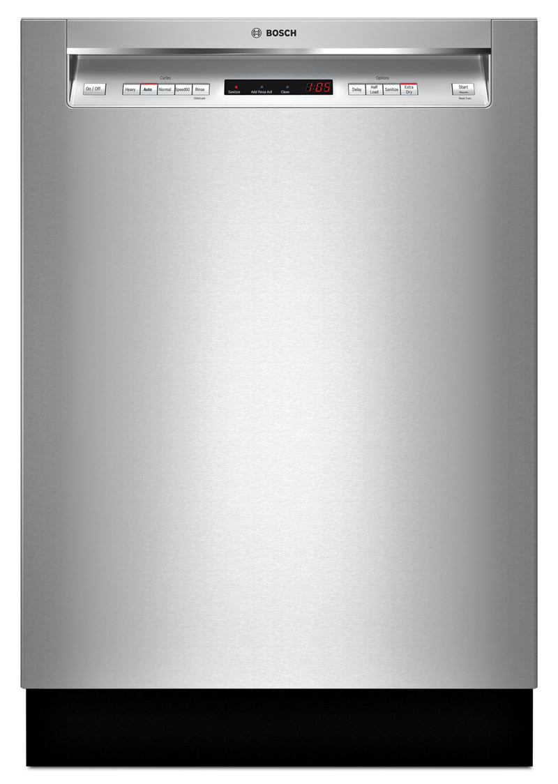 Bosch 300 Series Recessed Handle Built-In Dishwasher - SHEM63W55N
