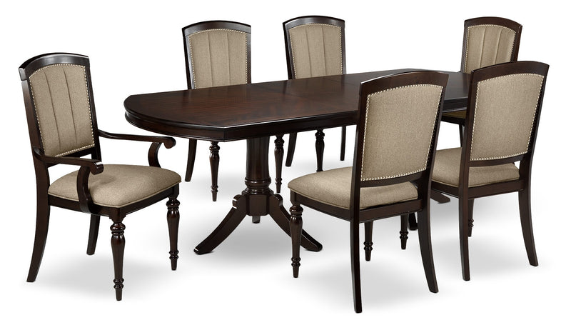 Whitehill 7-Piece Dining Room Set - Dark Cherry