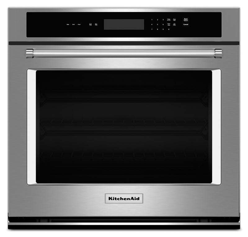 "KitchenAid 30"" Single Wall Oven with Even-Heat™ Thermal Bake and Broil - Stainless Steel"