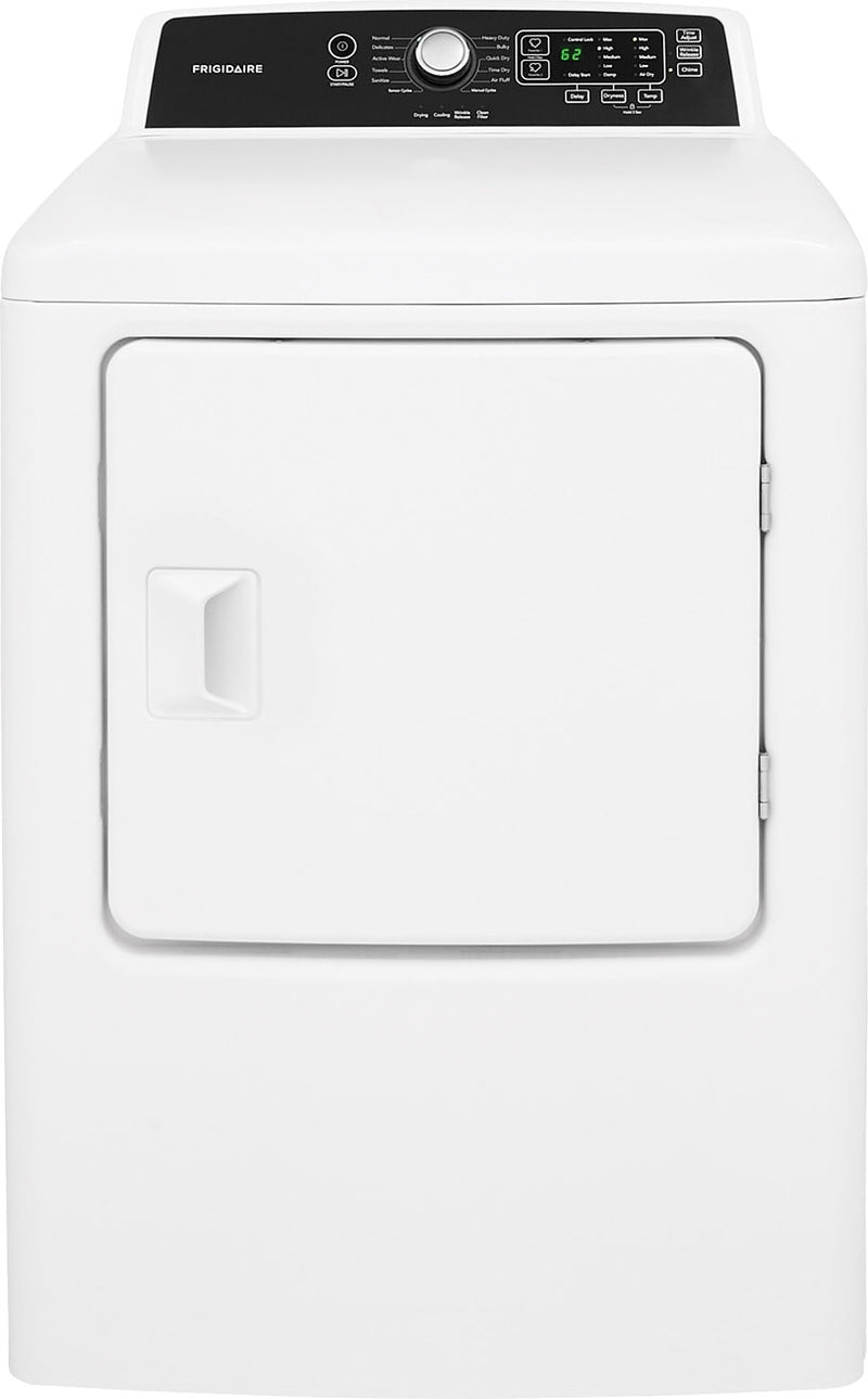 Frigidaire White Electric Dryer (6.7 Cu. Ft.) - CFRE4120SW