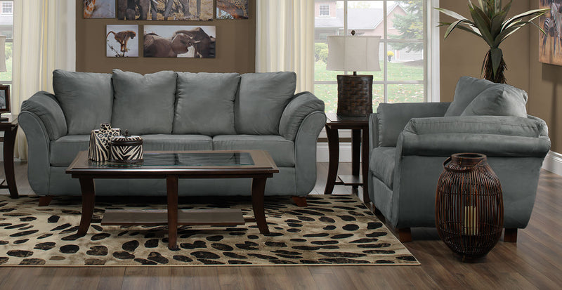 Breton Sofa and Chair Set - Dark Grey