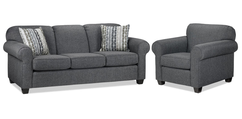 Staveley Sofa and Chair Set - Grey
