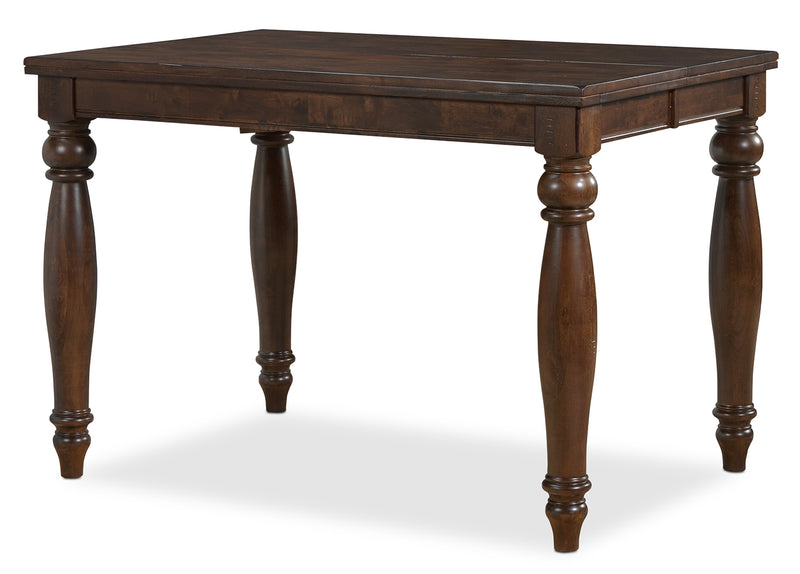 Cora Pub-Height Dining Table - Chocolate