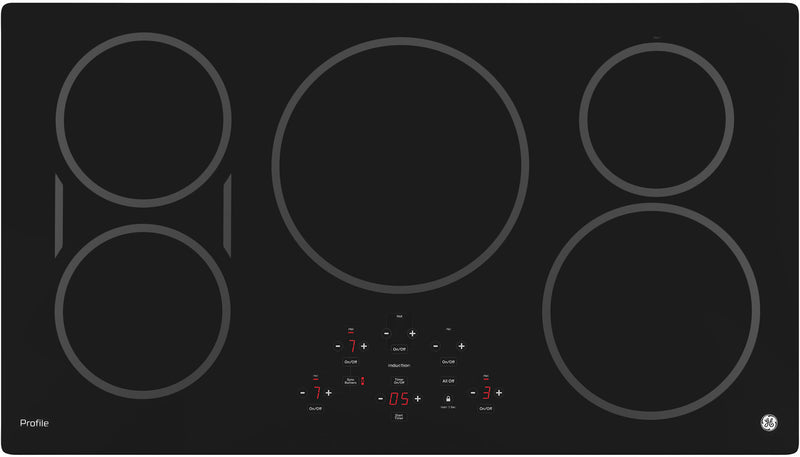 "GE Profile 36"" Electric Induction Cooktop - PHP9036DJBB"