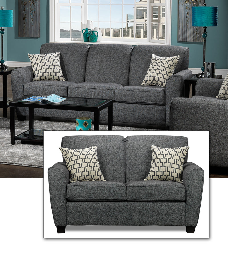 Orson 2 Pc. Living Room Package w/ Loveseat - Grey