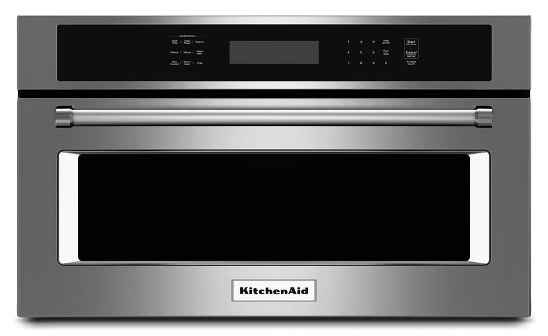 "KitchenAid 1.4 Cu. Ft. 30"" Built-In Convection Microwave Oven - Stainless Steel"