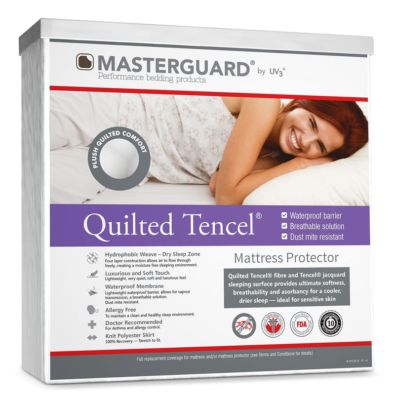 MasterGuard® Quilted Tencel® Mattress Protector - Full XL