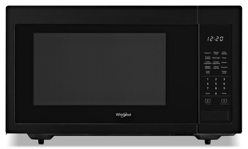 Whirlpool 1.6 cu ft, 21.75 in. Countertop Microwave, 1100 Watts-YWMC30516HB