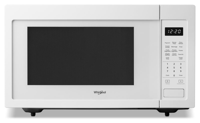 Whirlpool 1.6 cu ft, 21.75 in. Countertop Microwave, 1100 Watts-YWMC30516HW