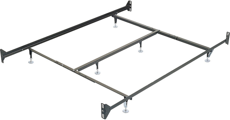 Queen Metal Glide Bedframe w/ Headboard/Footboard Attachment