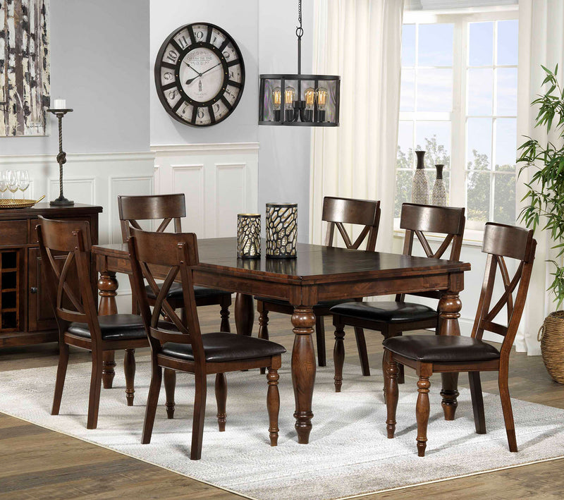 Cora 7-Piece Dining Room Set - Chocolate