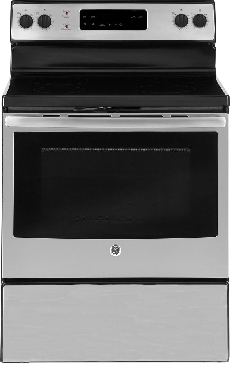 GE Stainless Steel Freestanding Electric Range (5.0 Cu. Ft.) - JCB630SKSS