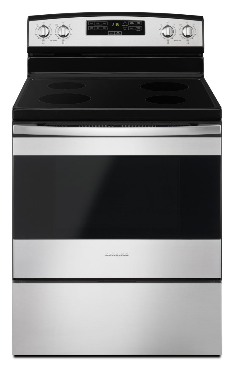 Amana Stainless Steel Freestanding Electric Range (4.8 Cu. Ft.) - YAER6303MFS