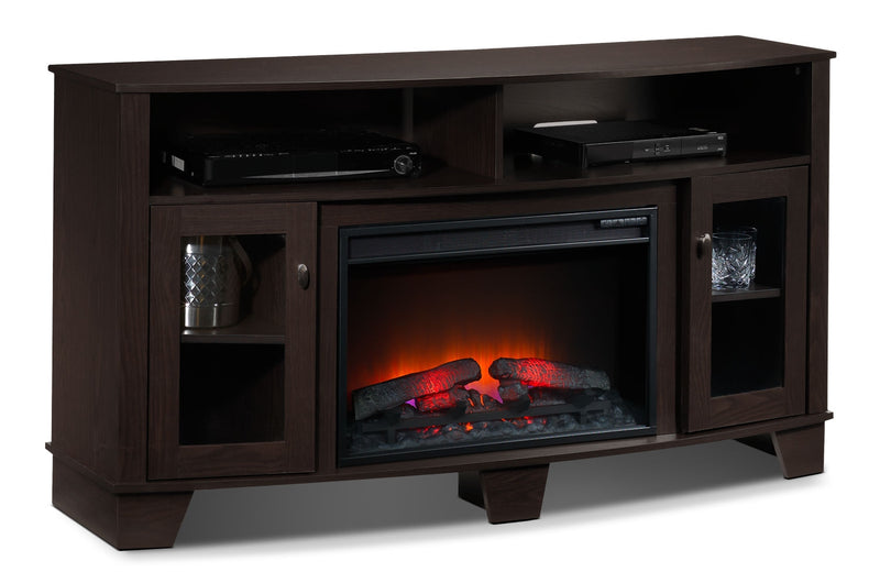 Lasalle Fireplace TV Stand - Espresso