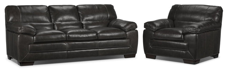 Redmond Sofa and Chair Set - Charcoal