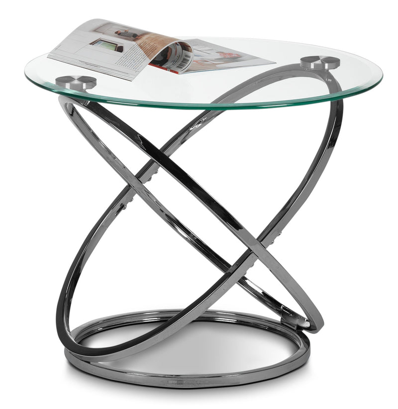 Whimsy End Table - Chrome