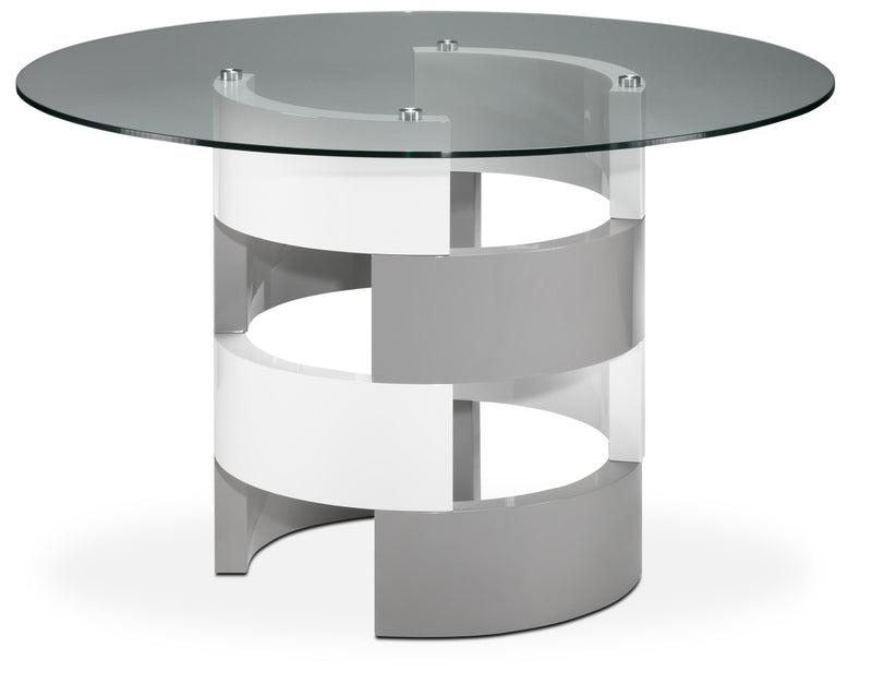 Channing Dining Table - Grey and White