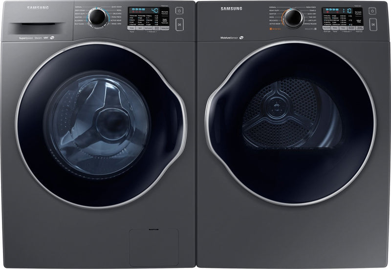 Samsung Compact 2.6 Cu. Ft. Front-Load Washer and 4.0 Cu. Ft. Electric Dryer – Slate