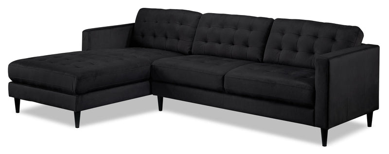 Seymour 2-Piece Sectional with Left-Facing Chaise - Charcoal