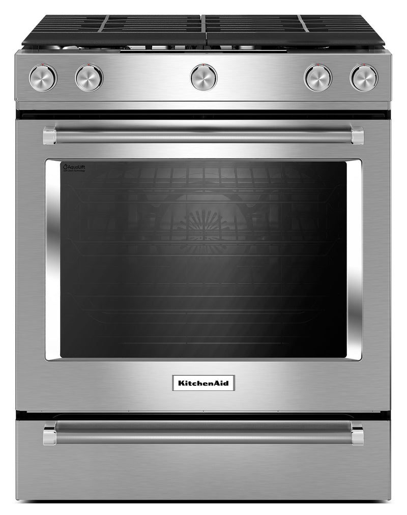 KitchenAid 5.8 Cu. Ft. Slide-In Convection Gas Range - Stainless Steel