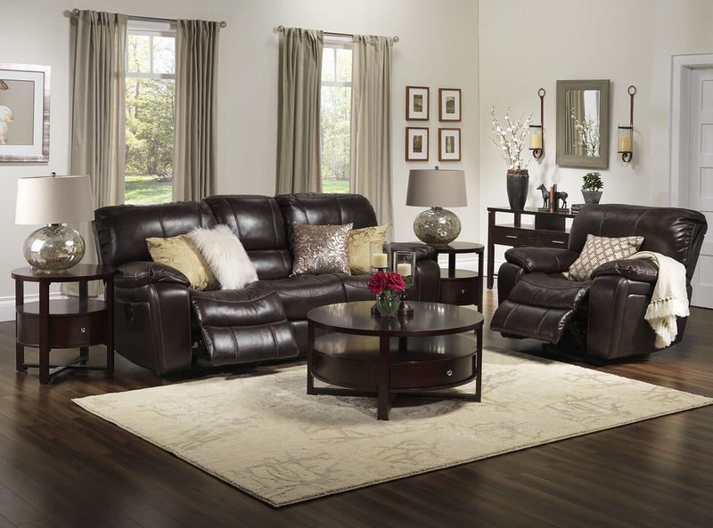Mallone 2 Pc. Living Room Package w/ Recliner - Walnut